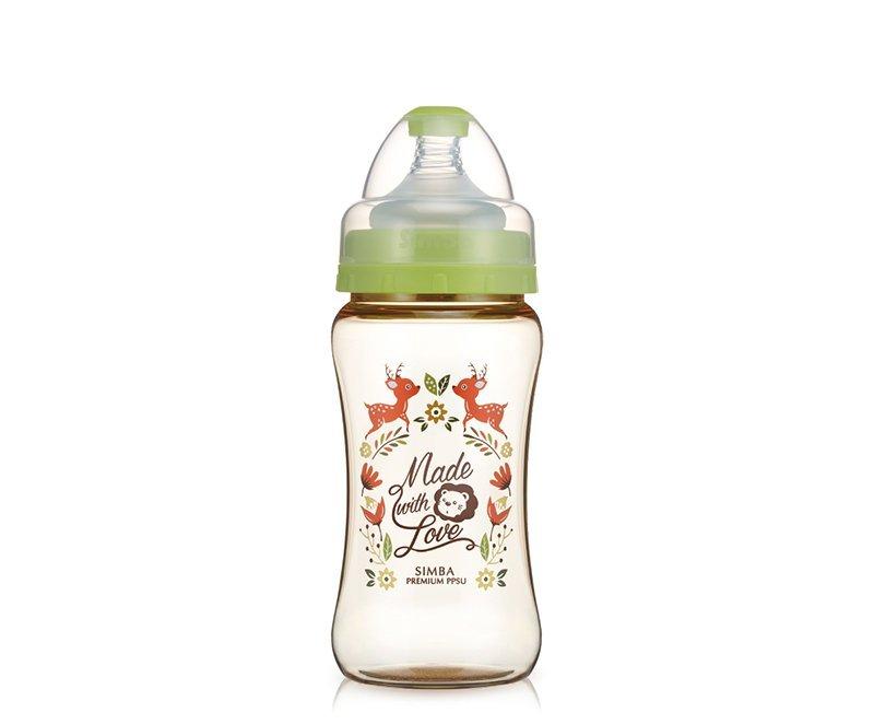 桃樂絲心願精裝PPSU寬口雙凹中奶瓶270ml(麋鹿) | 小獅王辛巴Simba